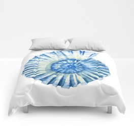 Blue Sea Snail Comforters
