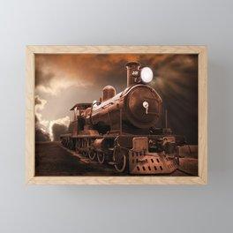 The Steam Trains Final Trip Framed Mini Art Print