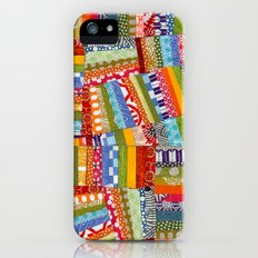 rainbow quilt iPhone (5, 5s) Slim Case