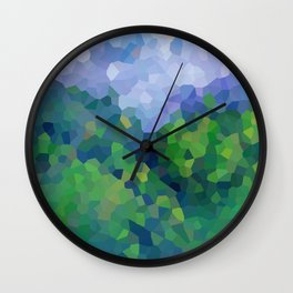 Abstract Landscape in the mountains Wall Clock