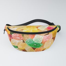 colorful gummy candy squares Fanny Pack