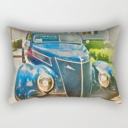 Blue Classic Car Rectangular Pillow