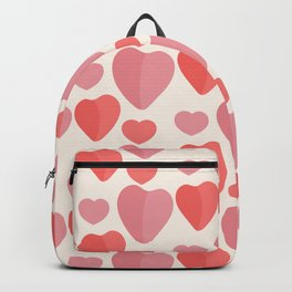 Cute  hand-drawn doodle pink hearts pattern Backpack
