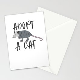 Possum Adopt A Cat Ugly Opossum Lovers Vintage Gift Stationery Cards