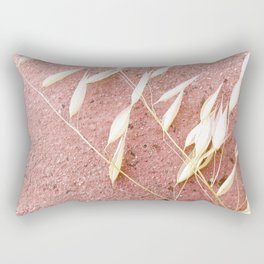 Blush Pink Plant Rectangular Pillow