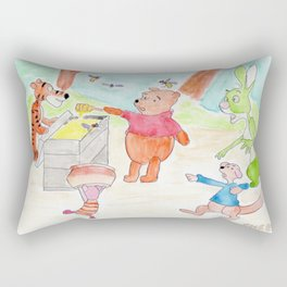 Poo Bear Robbing Honey Rectangular Pillow