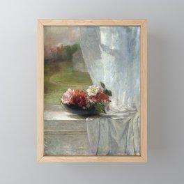 John La Farge Flowers on a Window Ledge Framed Mini Art Print