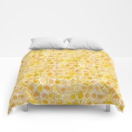 Golden Honeycomb Comforters