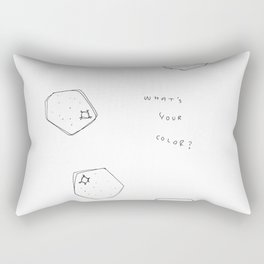Tell Me - fruit illustration inspirational quote typography Rectangular Pillow
