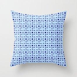 Moon and polkadot Throw Pillow