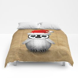 Baby Penguin Wearing a Santa Hat Comforters