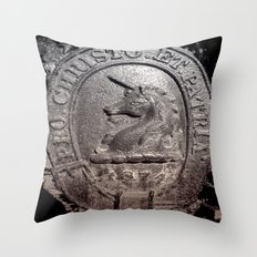1874 UNICORN Throw Pillow