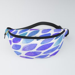 Watercolor brush strokes burst - blue and purple Fanny Pack
