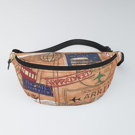 Entry Approved - Passport Stamps Fanny Pack