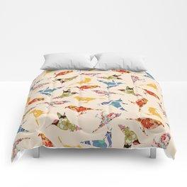 Vintage Wallpaper Birds Comforters