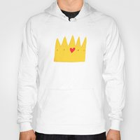 crown Hoodies featuring Crown by Mia Page