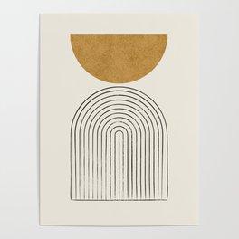 Arch Balance Gold Poster