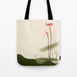 Oriental Lotus 002 Tote Bag