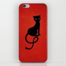 Red Gracious Evil Black Cat iPhone & iPod Skin