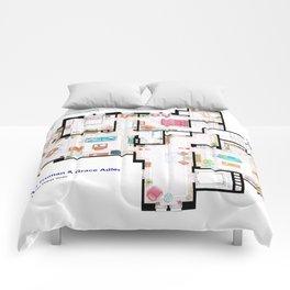Apartments of Will Truman, Grace Adler and Jack - Floorplan Comforters