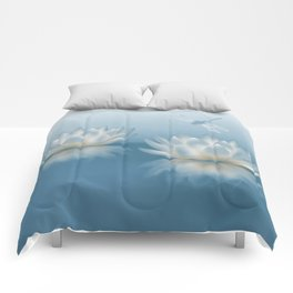 Blue Lotus and Dragonfly Comforters