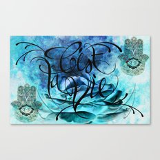 Turquoise Hamsa Canvas Print