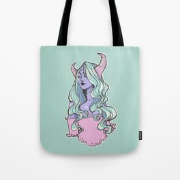 Pastel Horned Witch Tote Bag
