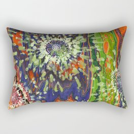 Induced Cosmic Revelations (Four Dreams, In Mutating Cycle) Rectangular Pillow