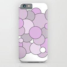 Bubbles - purple, gray and white. iPhone 6s Slim Case