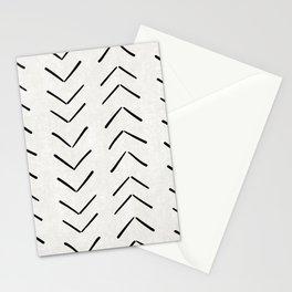Mud Cloth Big Arrows in Cream Stationery Cards