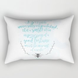 A Truth Universally Acknowledged  Rectangular Pillow
