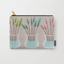 Simple flowers in vases Carry-All Pouch
