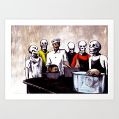 The Bastards' Cooking School of Satan Art Print