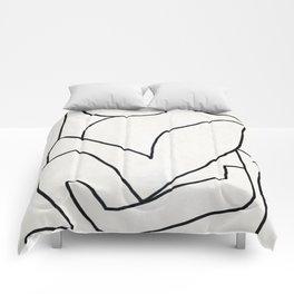 Abstract line art 2 Comforters