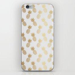 Gold Pineapple Pattern iPhone Skin