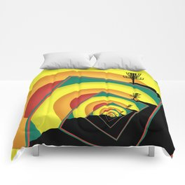 Spinning Disc Golf Baskets 3 Comforters
