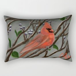 Male Cardinal DP151210a-14 Rectangular Pillow