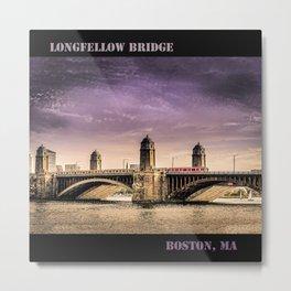 Longfellow Bridge, Boston MA Metal Print