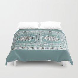 Traditional rug in denim blue Duvet Cover