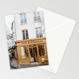 Cafe Montmartre - Paris Travel Photography Stationery Cards