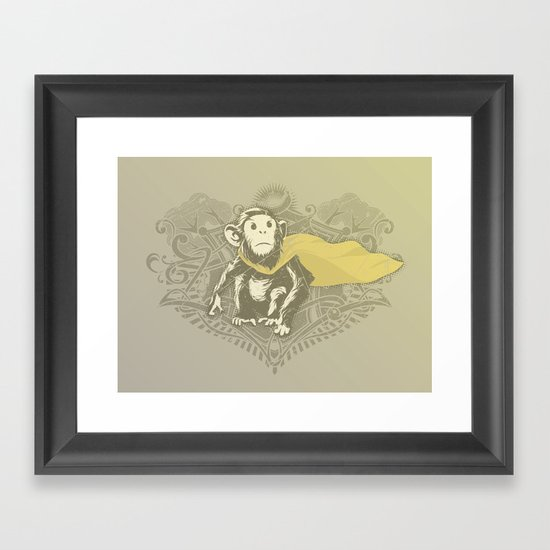 Fearless Creature: Chimpy Framed Art Print