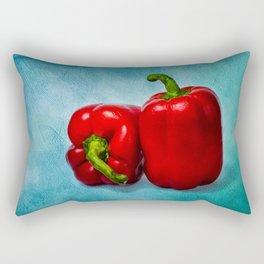 Red Bell Peppers Rectangular Pillow