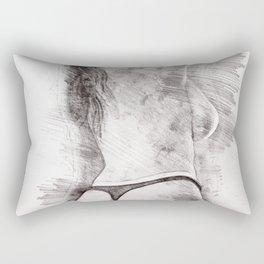Topless on the beach Rectangular Pillow