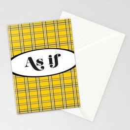 Clueless? As If! Stationery Cards