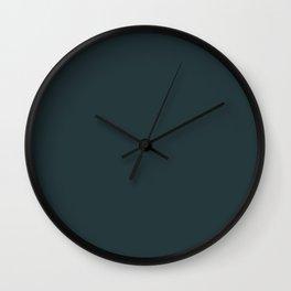 Cheap Solid Dark Slate Grey Color Wall Clock