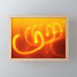 Light trails abstract Framed Mini Art Print