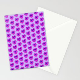 Billowy Blue Hearts Stationery Cards
