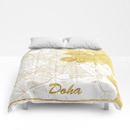 Doha Map Gold Comforters