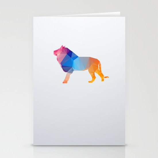 Glass Animal Series - Lion Stationery Cards