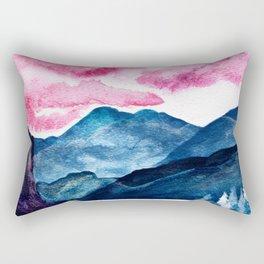 Moody Mountains Rectangular Pillow